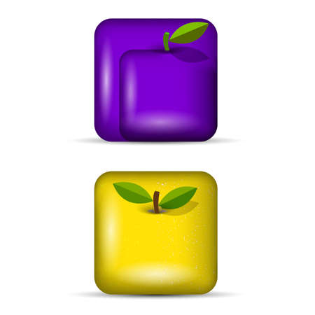 limon: Vector set 3 of app icons-fruits