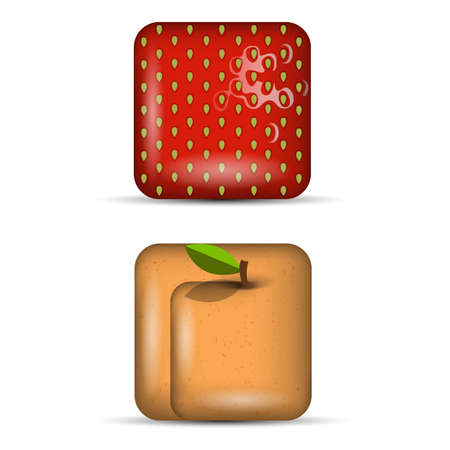 Vector set 4 of app icons-fruits Stock Vector - 22798894