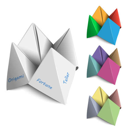 Vector set Origami Fortune Tellers Vector