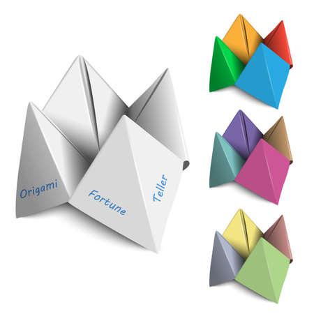 teller: Vector set Origami Fortune Tellers