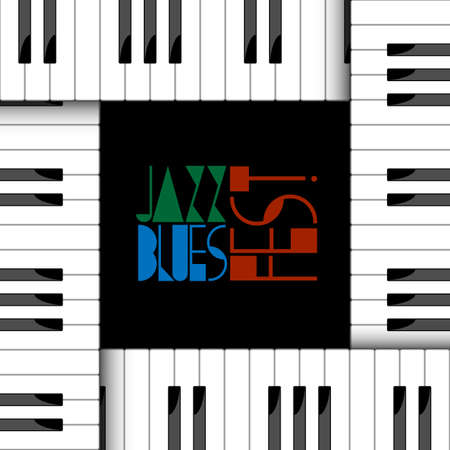 Vector creative illustration of piano keyboard Vector