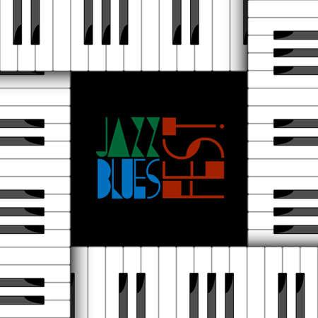 piano keyboard: Vector creative illustration of piano keyboard