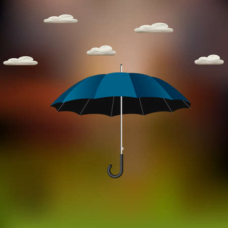 Vector umbrella with paper clouds Vector