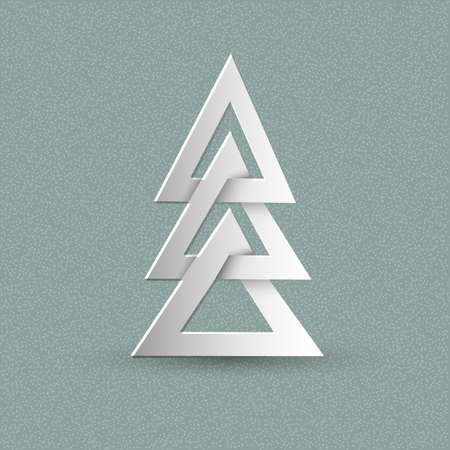 snippet: Creative paper Christmas tree. Vector Illustration