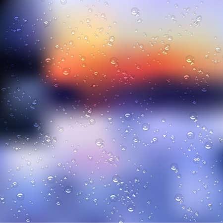 Regen fällt auf Glas. Vektor-Illustration Standard-Bild - 24507292