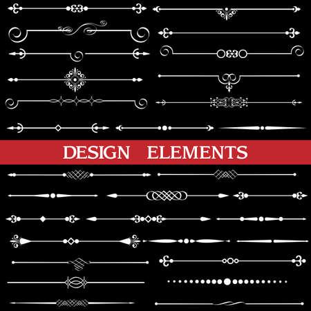 bordure de page: Vecteur ensemble de fronti�res calligraphiques et d�cor de page