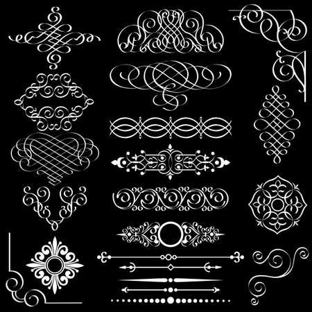 Vector set van vintage design-elementen