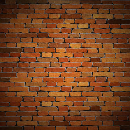 construction materials: Vector background of old brick wall