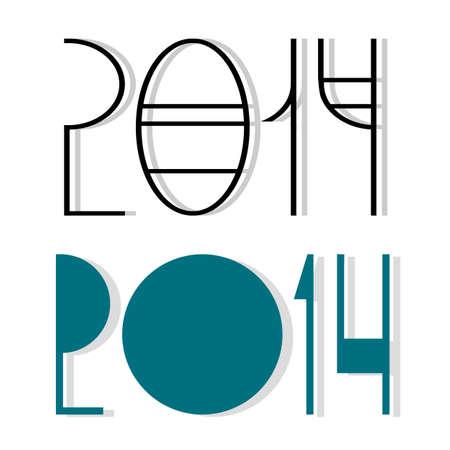 Vector creative happy new year 2014 design Stock Vector - 24901742