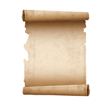 Vector illustration of ancient scroll paper  Çizim