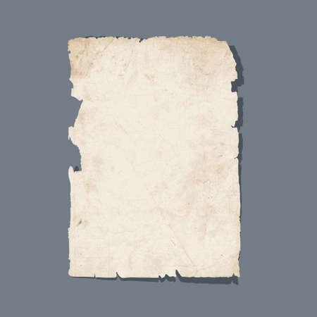 Gescheurd blad van oud papier Stock Illustratie