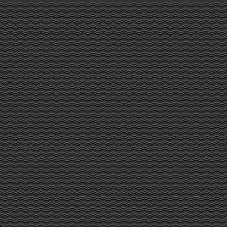 cf: Vector nero seamless con onde stilizzate Vettoriali