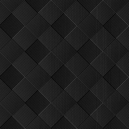 Black diagonal wicker pattern. Vector background