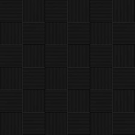 wickerwork: Black seamless wicker pattern. Vector background Illustration