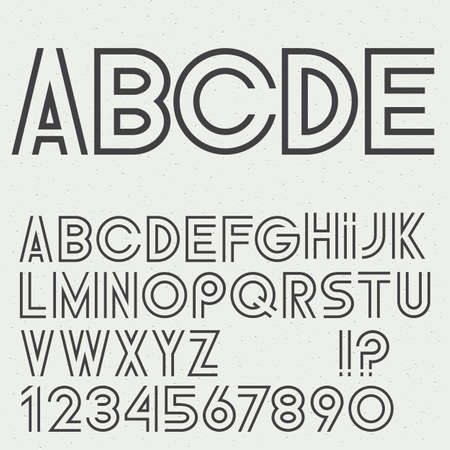 alphabet letters vector: Vector alphabet letters, numbers and punctuation marks