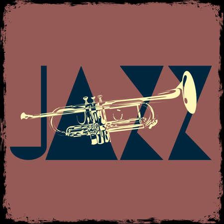 Trumpet jazz musical background Vector