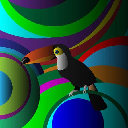 Decorative Toucan Vector