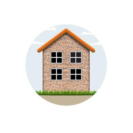 brick house: icon of brick village house