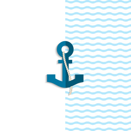 Anchor from paper. Vector