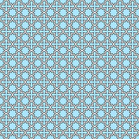 orientalische muster: Nahtlose geometrische Muster orientalisch. Illustration