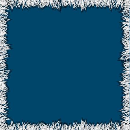 fringe: Frame from fabric fringe. Vector illustration Illustration