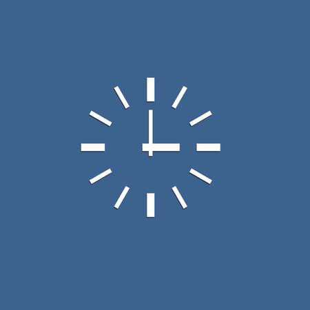 ticking: Minimalistic vector icon of clock from paper