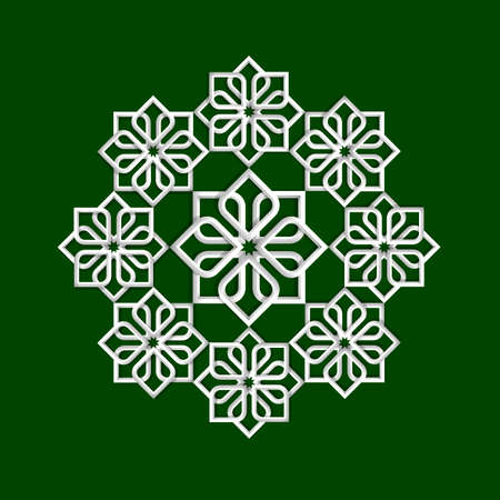 3d flower pattern in arabic style illustration  Vectores