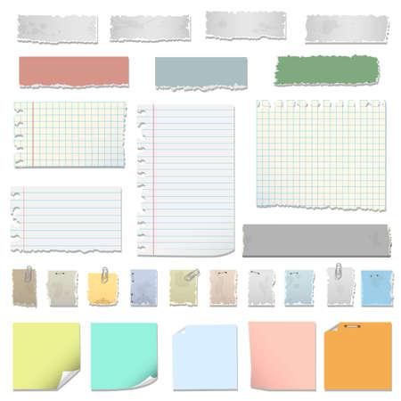 Collection of various notes paper Ilustração