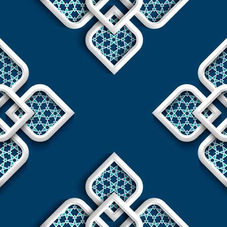 3d weißen Ornament im arabischen Stil Illustration Standard-Bild - 30404665