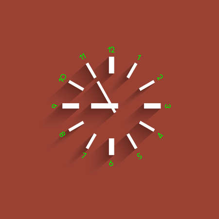 Clock with transparent shadow Vector