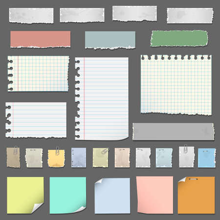 Collection of various notes paper Illustration