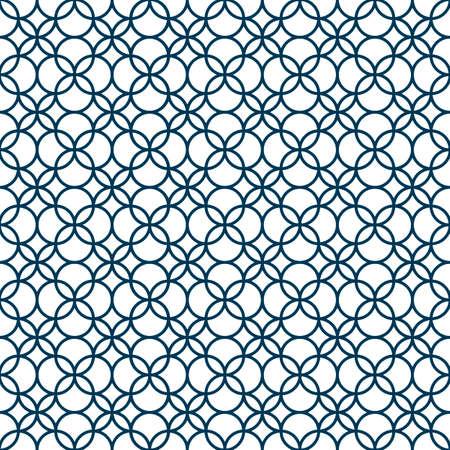 Monochrome seamless geometric pattern Vector