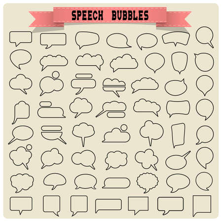 Big set of speech bubbles. Vector collection