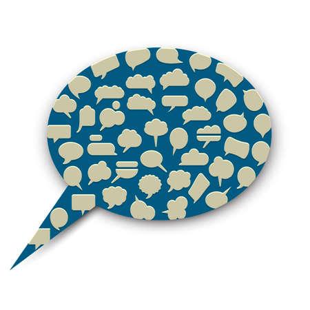 Speech bubble. Vector EPS10 Vector