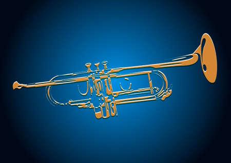 트럼펫. 벡터 EPS10