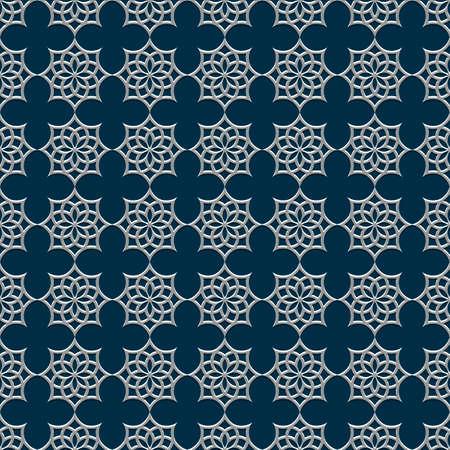 arabic motif: 3d seamless pattern in arabic style. Vector background