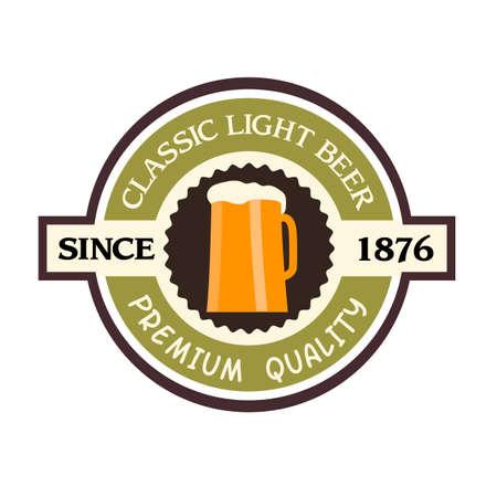 irish pub label design: Beer label design. Vector EPS10 Illustration