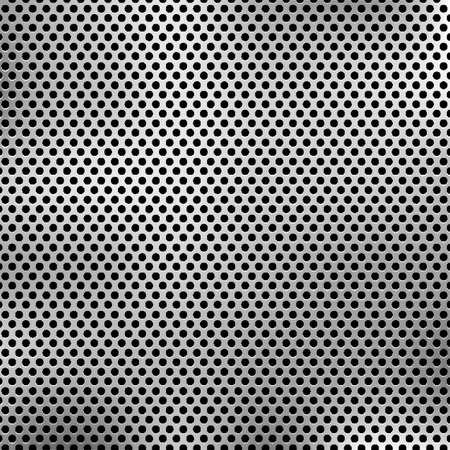 perforate: Metal background.