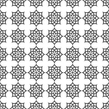 Monochrome seamless pattern in islamic motif.
