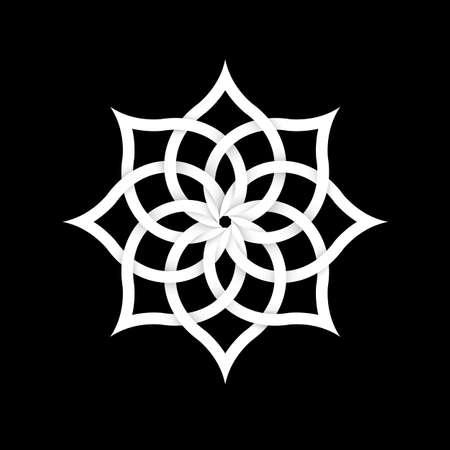 forme geometrique: Papier élément floral pour la conception. Illustration