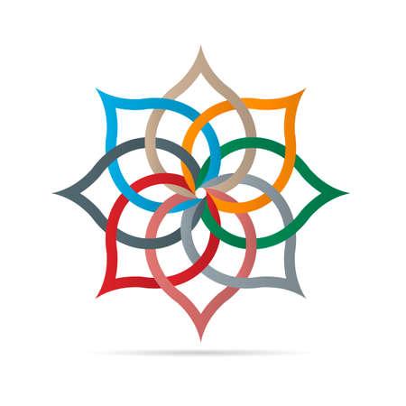 Colorful floral element for design. Vector EPS10 Illustration
