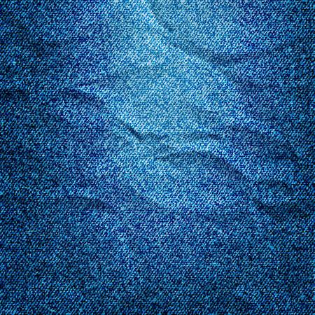 blue jeans: Background of crumpled Denim texture.