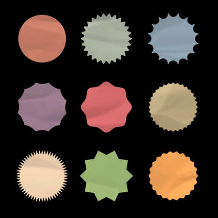Set of round stickers.Vector eps10 Vector