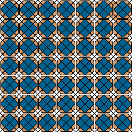 tile pattern: Geometric colored seamless tile pattern. Vector background