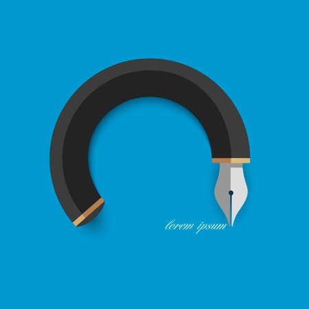 nib: Stylized writing pen   Illustration
