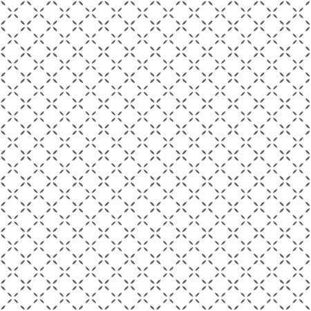 간단한 흑백 원활한 형상 패턴. 벡터 배경