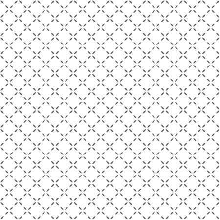 Simple black-white seamless geometric pattern. Vector background