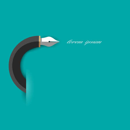 Stylized writing pen. Vector EPS10 Vector