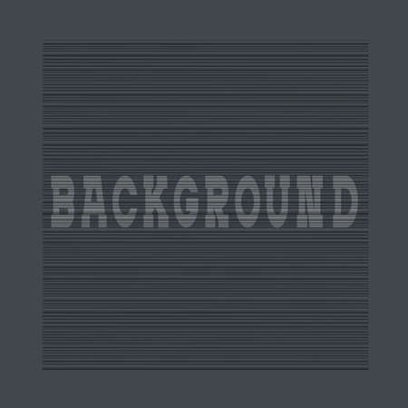 Textured black background with horizontal lines.  Vector