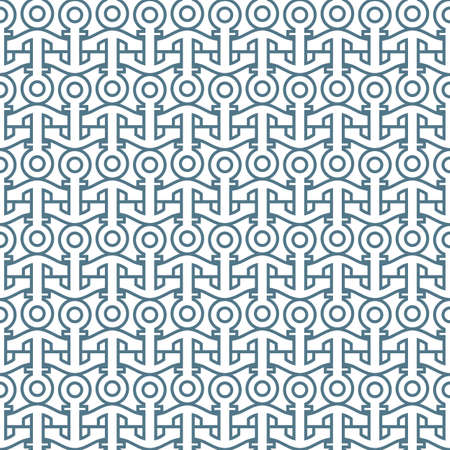 Delicate seamless pattern with anchors. Vector background Vector